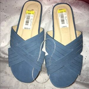'Nurture'  Blue Women's Sandals , size 6 1/2M.